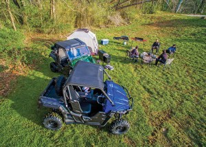 When a hard day's work is done, drivers can settle in with the Yamaha Wolverine R-Spec in public camping areas at Brimstone.