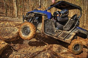 Rocks and mud presented the 2016 Wolverine R-Spec a fistful of challenges at Brimstone ATV park in Tennessee, but the newest Yamaha side-by-side came away an easy winner.