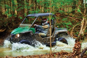 Whether on slick rock found in creek beds or any of a variety of terrain, the Yamaha Wolverine R-Spec felt at home.