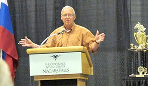 Ed Klim, speaking Friday at the International Snowmobile Congress.