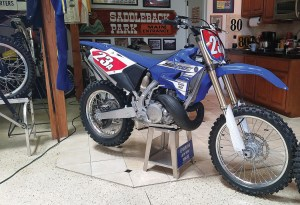 Yamaha introduced its all-new YZ250X, along with 2016 updates to its other off-road bikes at the Early Years of Motocross Museum in Villa Park, Calif.