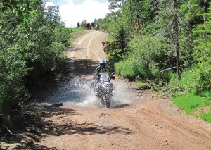 Foothills Motorcycles advised riders that the route would be technical, incoporating dual-sport elements and on- and off-road terrain.