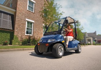 E-Z-GO's 2Five is street legal on most state's public roads with posted speed limits of 35 mph or less.