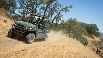 At work or play, the Mule Pro-FX was an ideal fit on the terrain of the California Central Coast wine country.