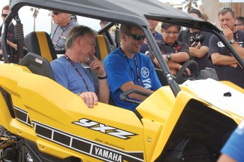 The all-new 2016 Yamaha YXZ1000R left dealers smiling at the global launch in Long Beach.