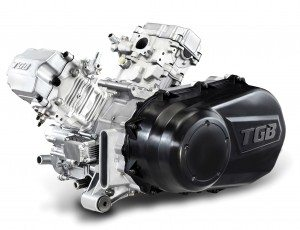 TGB recently developed a 1000cc engine designed for use in ATVs and side-by-sides.