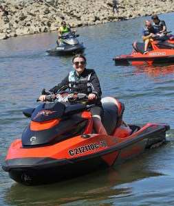  PSB managing editor Liz Keener demoed the 2016 Sea-Doo RXT-X on the Cumberland River in Tennessee during a media event in mid-September.