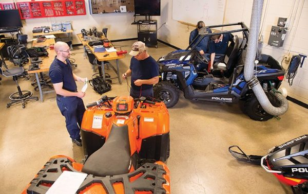 The SUNY Canton powersports service technician certification program sends 10-15 students into the industry annually.