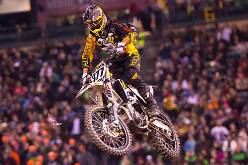 Christophe Pourcel finished 18th in 450SX at Anaheim.
