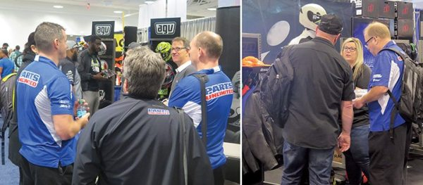 Reps and dealers had both Saturday and Sunday to walk through the expo hall and visit vendors such as AGV and Icon, the Parts Unlimited house brand.