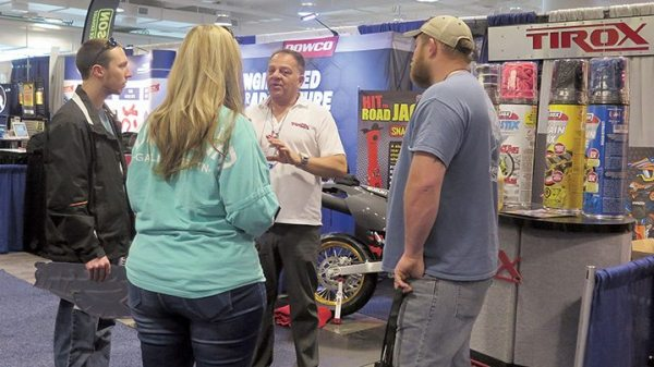 Dealers from throughout the U.S. visited the Atlanta show and stopped by booths of vendors like Tirox.