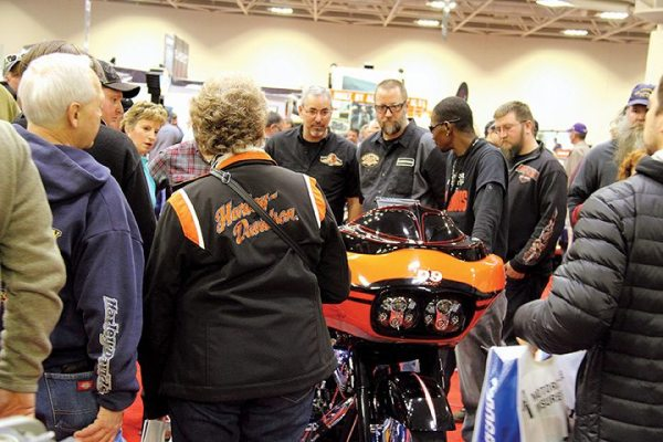 The International Motorcycle Show Minneapolis stop saw more than 40,000 people in attendance, despite taking place on Super Bowl weekend. (Photo by Beth Dolgner, courtesy of the Progressive International Motorcycle Shows)