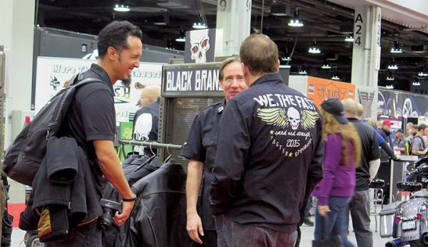 The Black Brand portion of the Biker's Choice booth at the V-Twin Expo was one of the most popular stops during the show.