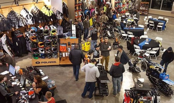 2015 Powersports Business Power 50 dealer Cycle North Powersports hosted an annual snowcheck party to celebrate the 2017 Polaris lineup and thank its customers for their support.