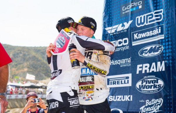 Jeremy Martin (left) made it a historic 1-2 sweep for the Martin brothers.