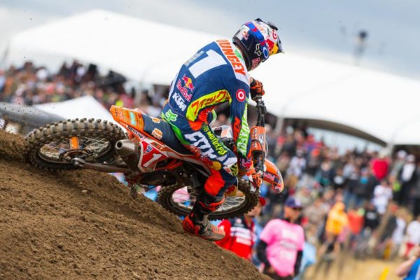 Dungey secured his sixth straight runner-up finish at Hangtown. Photo credit: Simon Cudby