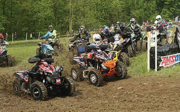 Can-Am X-Team racers Kevin Cunningham (No. 744) and Jordan Phillips (No. 602) battled for the 4x4 Pro class holeshot.