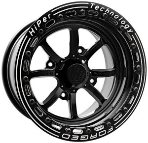 The FA:15 wheel is HiPer's first 15-inch wheel and first UTV wheel designed from start to finish using WELD's aircraft-quality forged alloy materials.