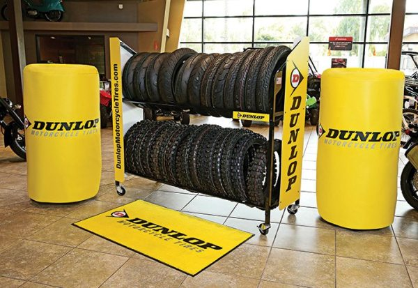 Launched in February, the Dunlop Pro Dealer program offered a free tire rack to the first 500 dealers to sign up. Today, the program's dealer roster exceeds 2,000.