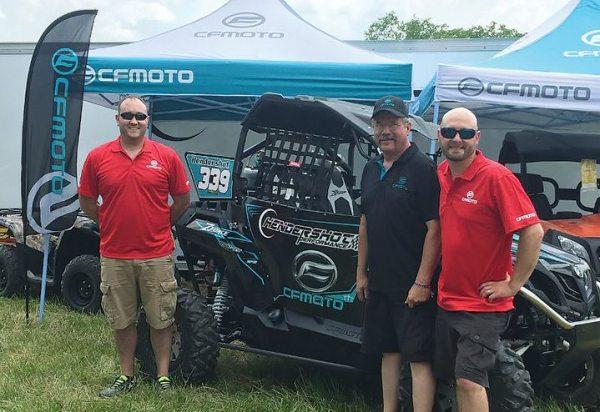 Mike Wittekind, Larry Hendershot and Matt Hendershot helped CFMOTO turn heads in its GNCC race debut.