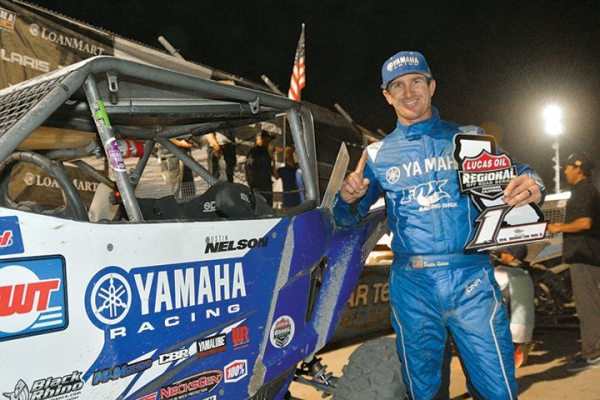 Dustin Nelson stood at the top of the Lucas Oil Regional Off-Road Series in the Production 1000 class in both Southern California and Arizona, aboard the Yamaha YXZ1000R.