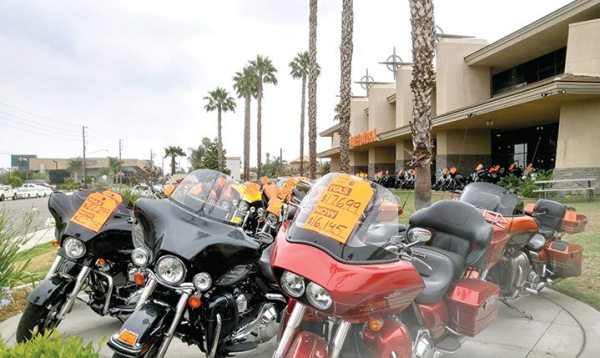 About 10,000-square-feet of showroom space will be added to Riverside Harley-Davidson by extending the dealership to the end of the outdoor overhang when it completes its upcoming expansion.