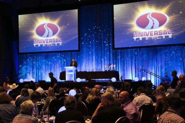 UTC dealers were recognized for sales achievements at the UTC Dealer Meeting Awards Banquet
