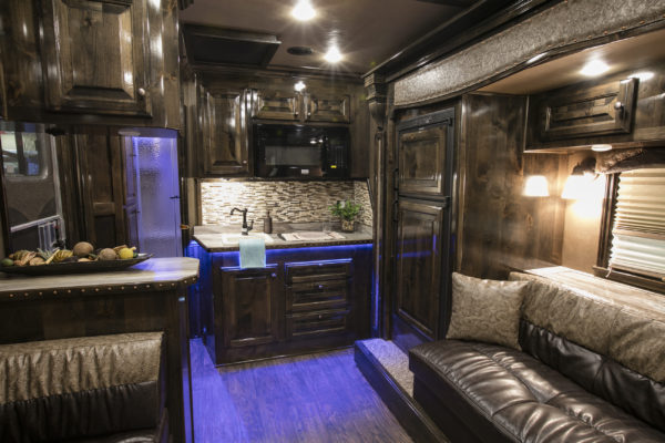 New décor options are available in Exiss and Sooner living quarters trailers.