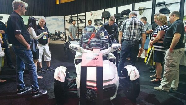 Spyder showcased its new F3 Limited in the Club BRP showroom.