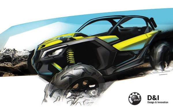 Can-Am powersports designer Alexei Mikhailov provided his early concept rendering of the Maverick X3.