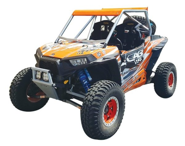 The Baja Spec roll cage from CageWrx fits the Polaris RZR XP 1000.