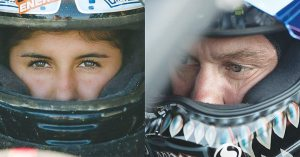Father-daughter duo Hallie, left, and Brian Deegan took on the Terracross race at Haydays in September.