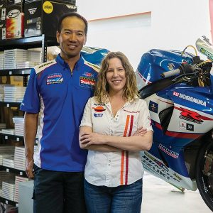 Tanya Crew and her husband David Jun work together selling motorcycle parts on eBay.