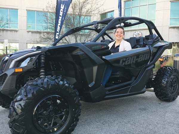 Assistant editor Kate Swanson got a chance to sit in one of BRP's Maverick X3 models, one of many units in and around the Sturtevant facility's BRP-dedicated atrium.
