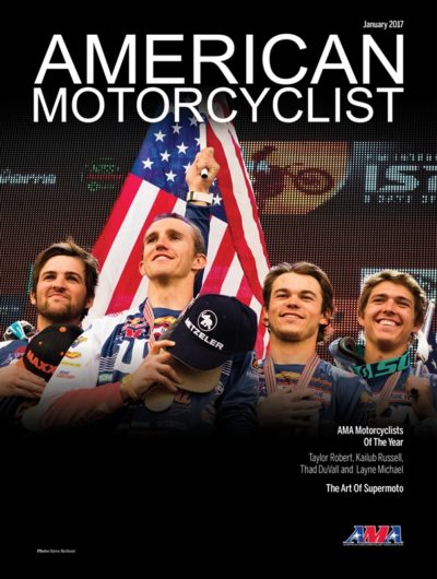 Profiles of Robert, Russell, DuVall and Michael can be found in the January 2017 issue of American Motorcyclist, the official journal of the AMA.