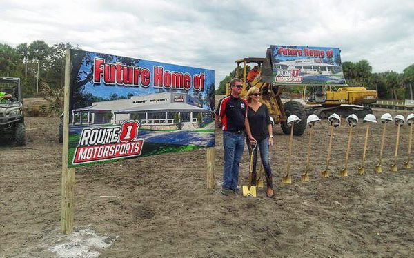 Route 1 Motorsports owners Willy Carmine and Kellie Yeasley broke the ground on their new Malabar, Florida, dealership on Nov. 15.