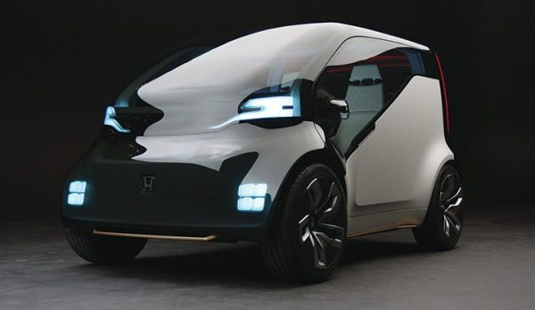 Honda's NeuV concept vehicle explores the idea of how to create new value for its owner by functioning as an automated ride sharing vehicle.