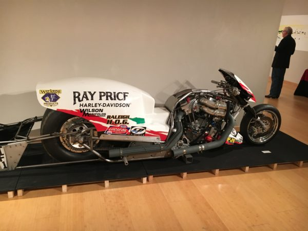 A 2000 Top Fuel Harley-Davidson - Nitro Drag owned by the legendary Ray Price was one of the 22 bikes on display.