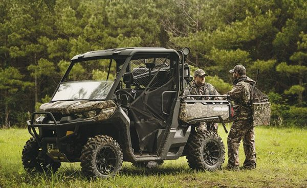 Can-Am introduced the Defender, its first utility-focused side-by-side, for the 2016 model year. Hunters and outdoorsmen are a big consumer group for utility UTVs.
