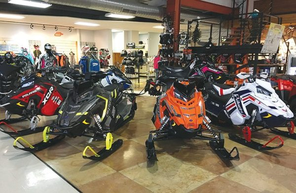 Jim Appolson made his mark as an oval sprint racer for Polaris. These days, his dealership in Erie County sells Polaris snowmobiles in New York's No. 1 county for snowmobile registrations.