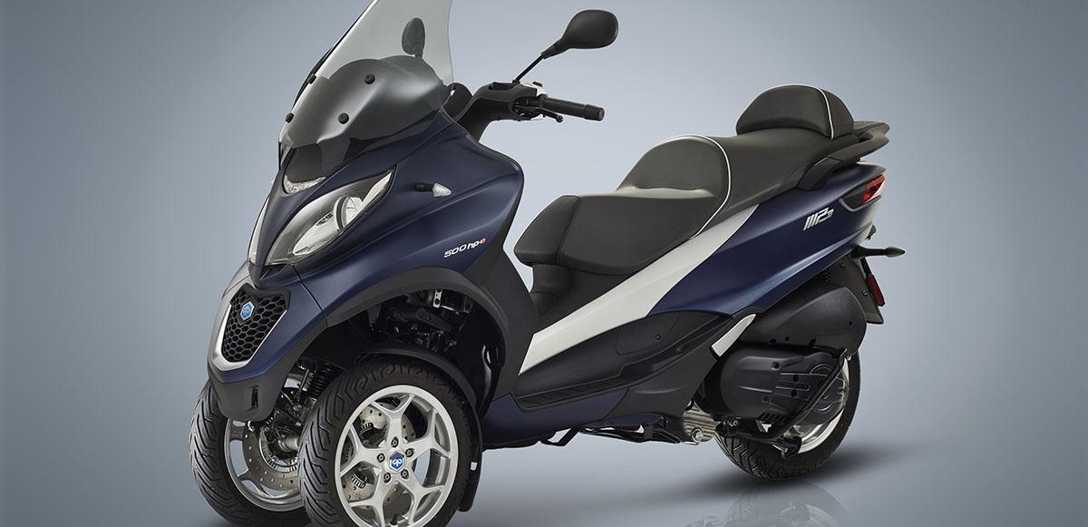 EU: Piaggio reveals 3-wheel scooter lineup   Powersports