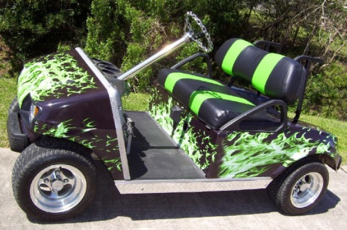 Painting A Golf Cart, Yourself