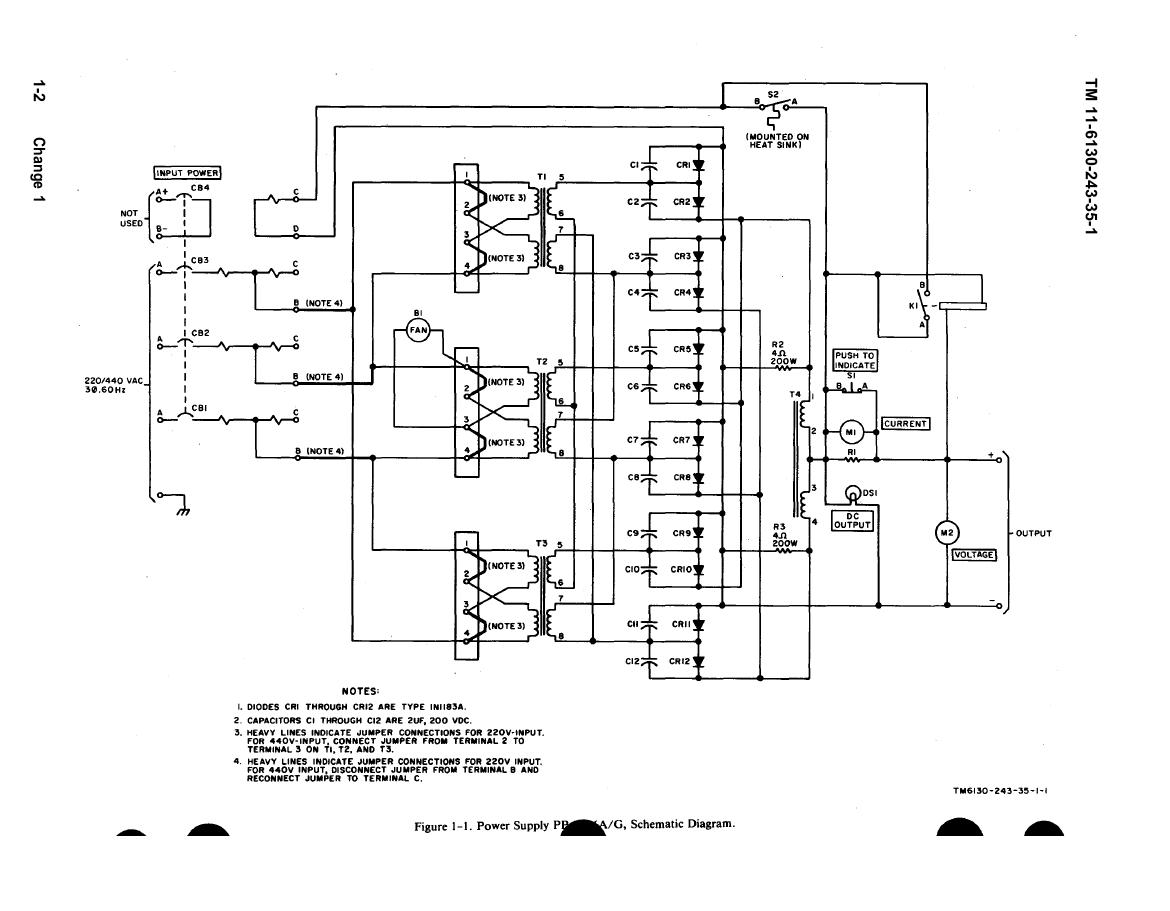 Figure 1 1 Power Supply Schematic Diagram