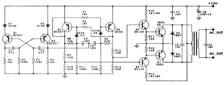 12V to 220V 100W Inverter - Power Supply Circuits
