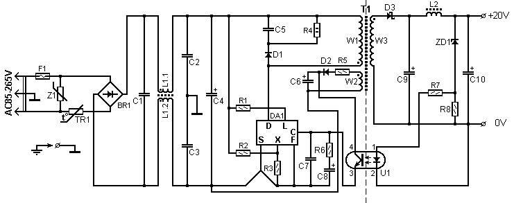 60 watt laptop battery charger power supply circuits60 watt laptop battery charger the circuit