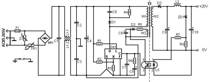 Circuit Diagram Solar Panel Battery Charger | 60 Watt Laptop Battery Charger Power Supply Circuits