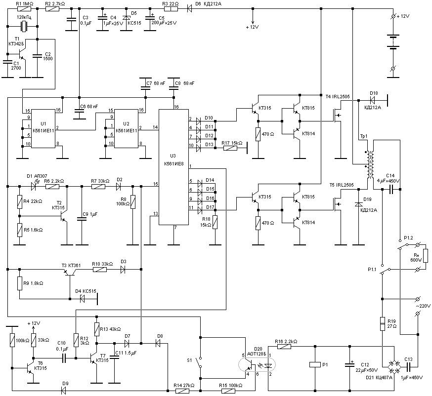 600 Watt Uninterruptible Power Supply on solar battery charger circuit diagram