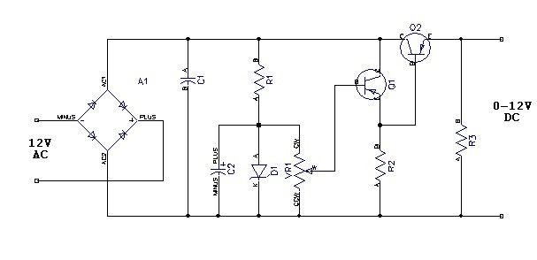0 12v Power Supply Circuit Diagram - Wiring Diagram Web