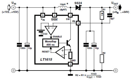 Step Up Dc Dc Converter With Lt1615 Power Supply Circuits