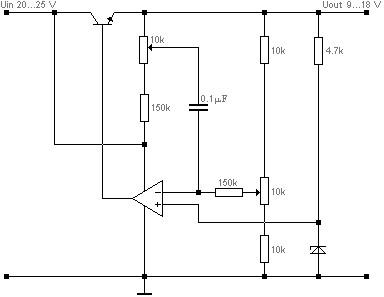 Voltage regulator circuit diagram